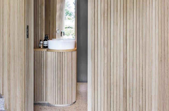 Swiss Embassy, Hellerup, desing, koupelny